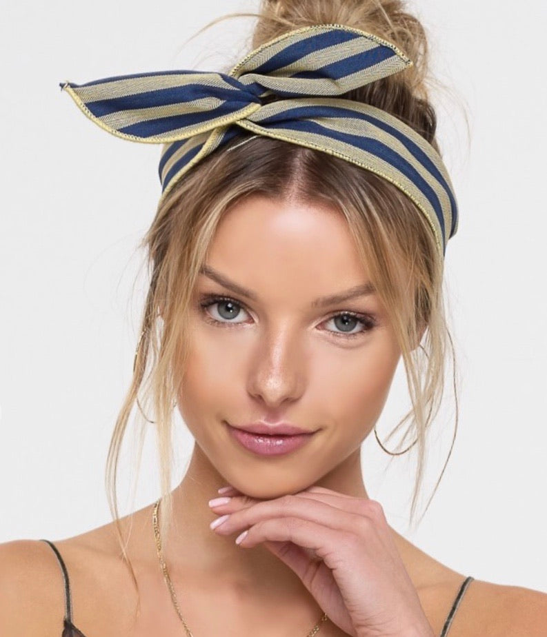 On a Wire Striped Hair Ribbon