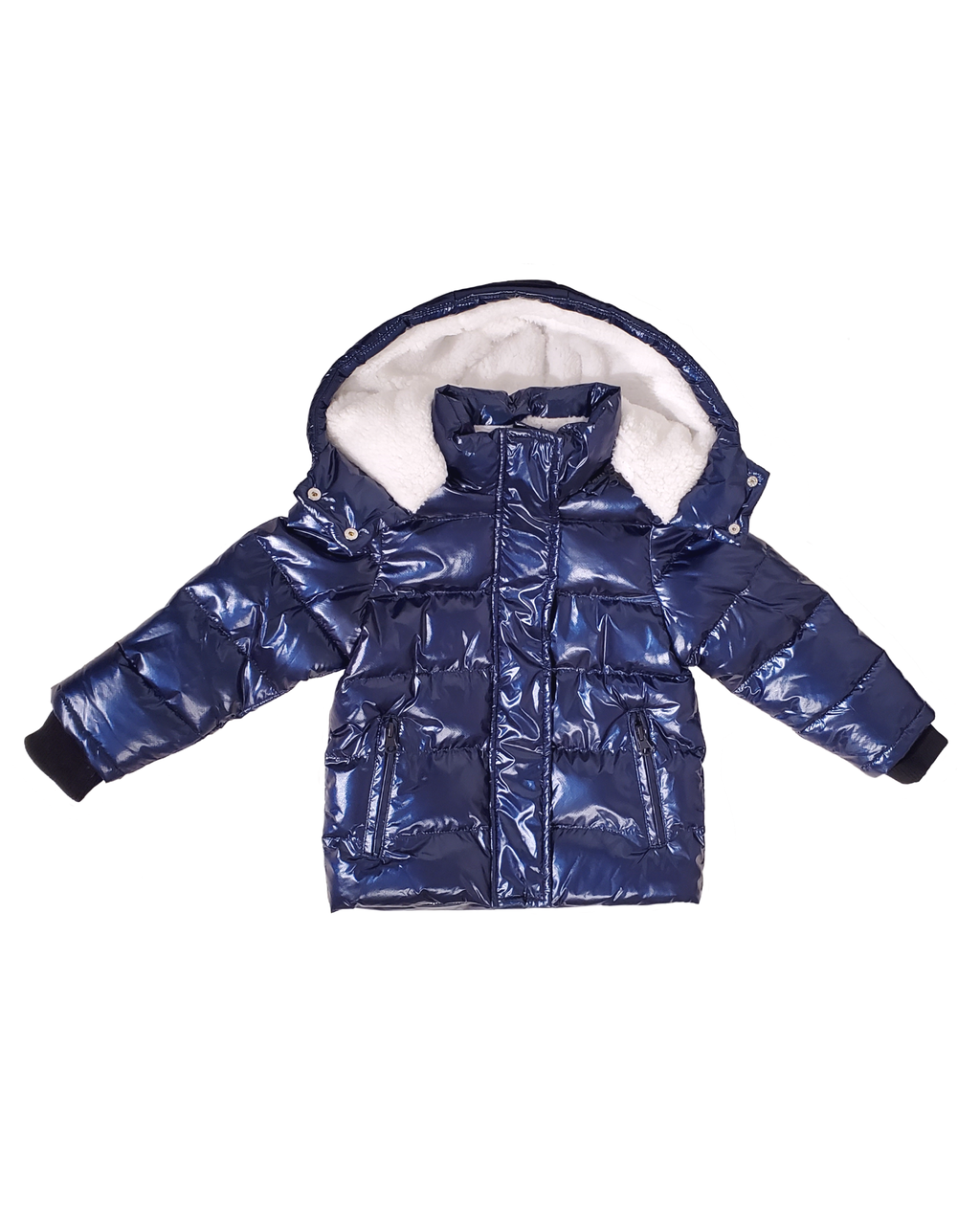 Winter Jacket - Metallic Blue