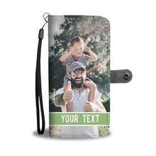 Load image into Gallery viewer, PERSONALIZED Wallet Phone Case With TEXT
