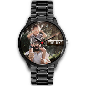 PERSONALIZED Black Watch with TEXT