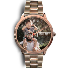 Load image into Gallery viewer, PERSONALIZED Gold Watch with TEXT