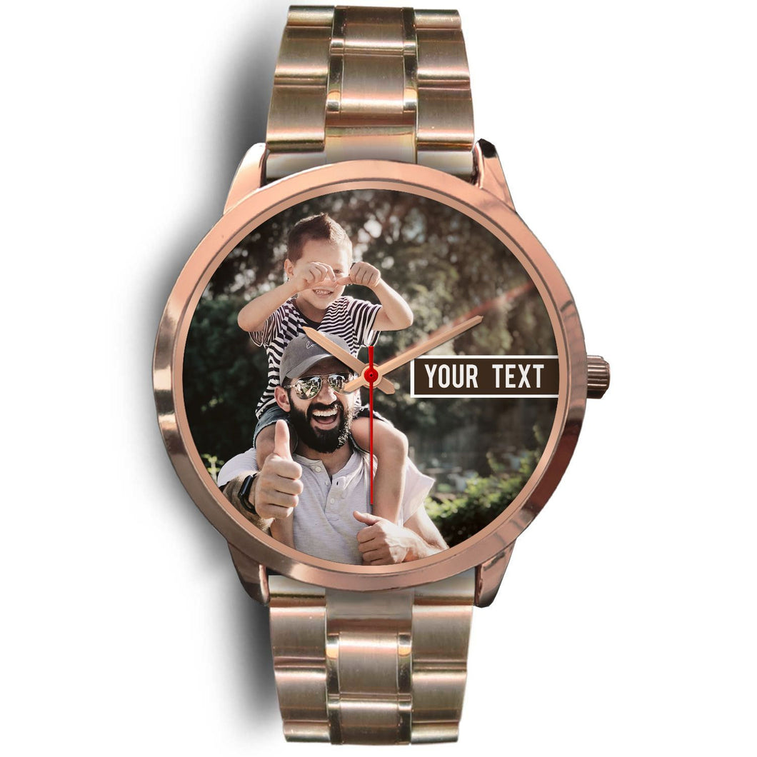 PERSONALIZED Gold Watch with TEXT