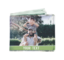 Load image into Gallery viewer, PERSONALIZED Men's Wallet with TEXT