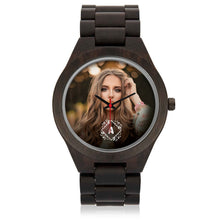 Load image into Gallery viewer, PERSONALIZED Engraved Wooden Watch with MONOGRAM