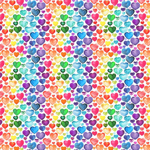 J1009 RAINBOW LOVELY HEARTS PRINT