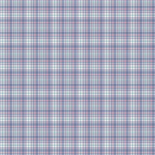 J1052 BLUE MIX PLAID CHECK PRINT