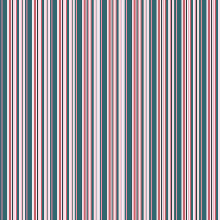 J1085 DARK GREEN PINK MIX STRIPES PRINT