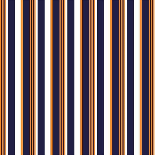J1087 ORANGE WHITE NAVY STRIPES PRINT