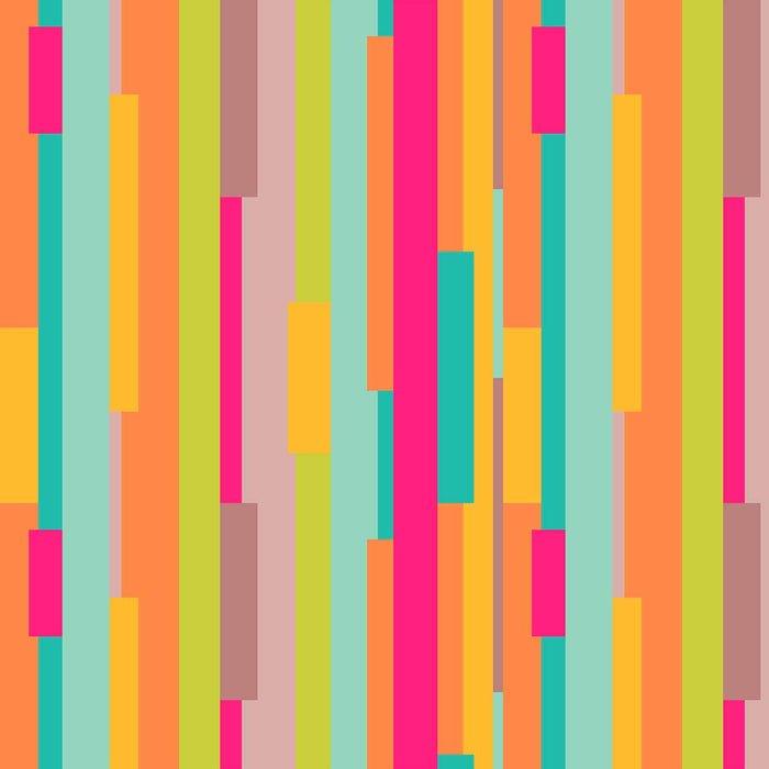 J1091 COLORFUL ABSTRACTS STRIPES PRINT