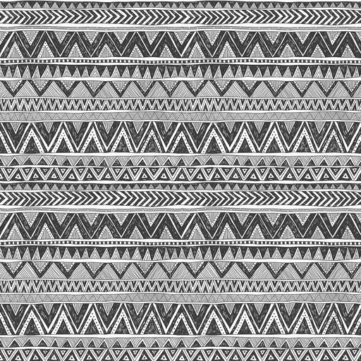 J1099 BLACK AND WHITE AZTEC PRINT