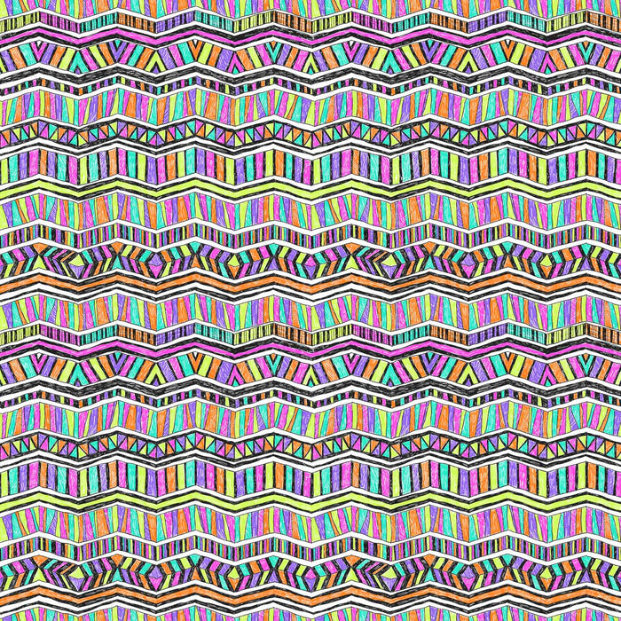 J1105 MIX SHAPES AZTEC PRINT