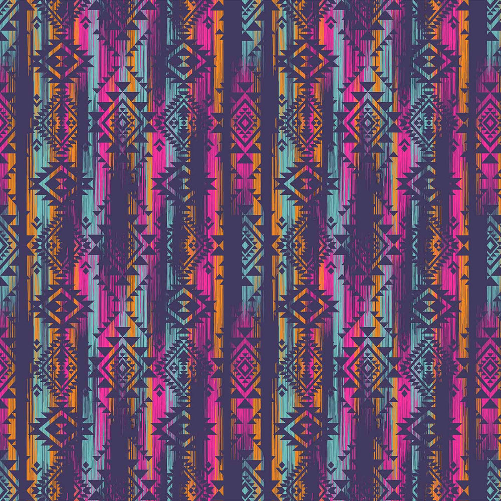 J1111 COLORFUL TEXTURE AZTEC PRINT
