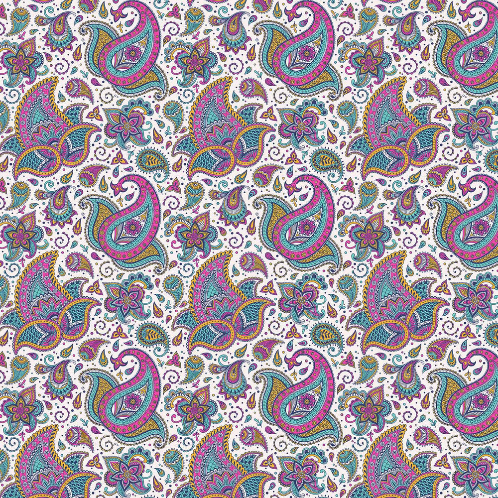 J1115 COLORFUL PAISLEY PRINT