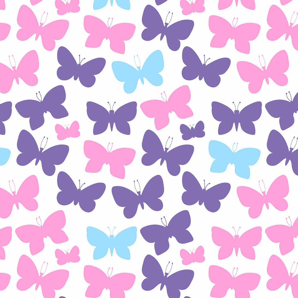 J1171 WHITE BASE MIX COLORS BUTTERFLY PRINT