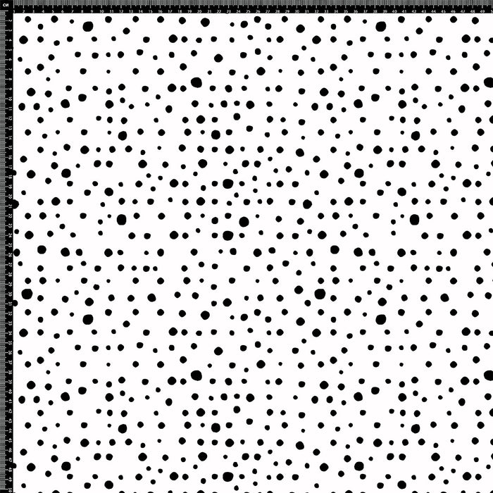 J138 Black dots on white background Print