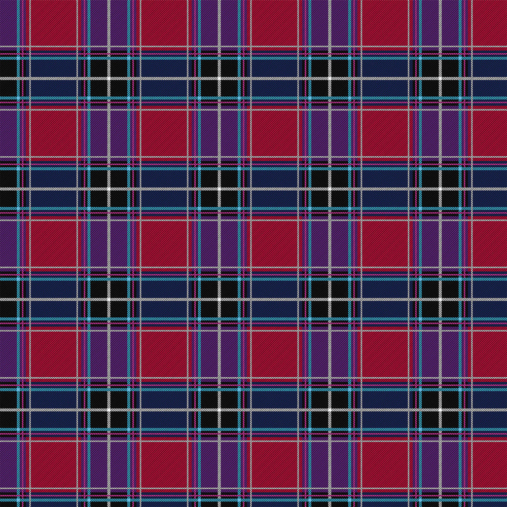 J154 BLUE PURPLE PINK CHECK PLAID PRINT
