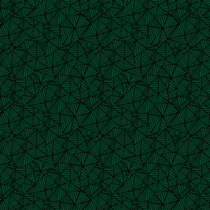 J158 BLACK AND GREEN ABSTRACT GEOMETRIC  PRINT