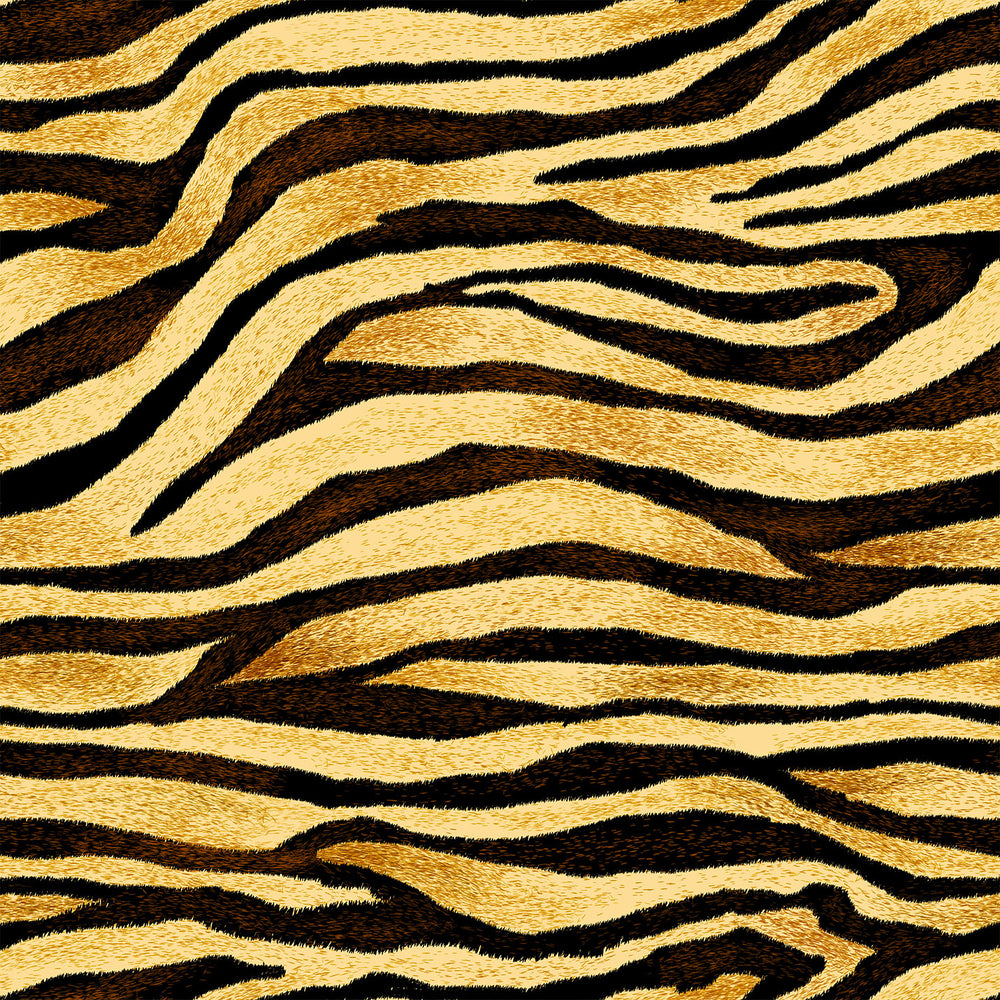 S165 NEUTRAL ORANGE TIGER STRIPES PRINT
