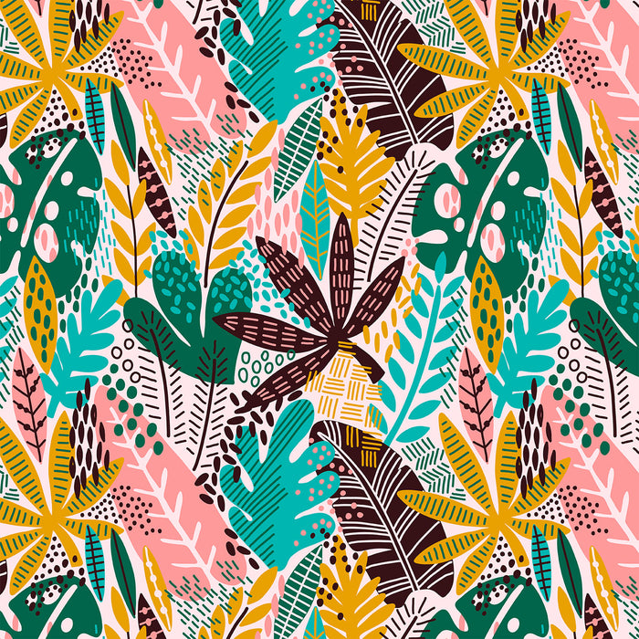 J173  ABSTRACT FLORAL JUNGLE PRINT