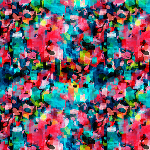 J175 MULTI COLOUR GEOMETRIC  ABSTRACT PRINT