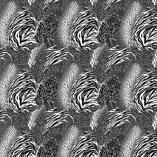 J207 BLACK AND WHITE MIXED ANIMAL  PRINT