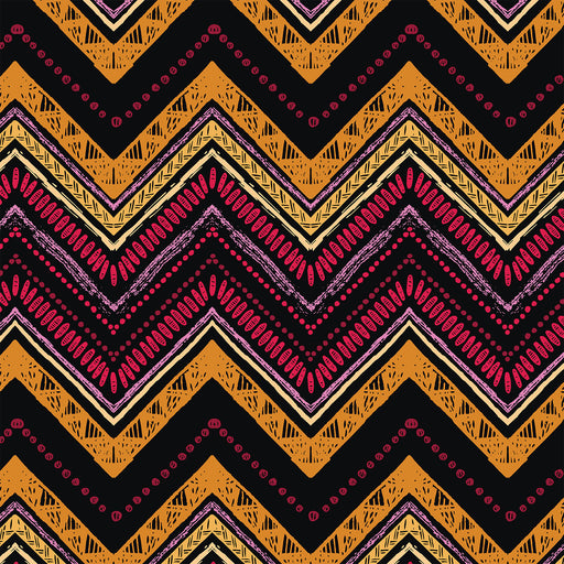 J220 BLACK ORANGE PINK AZTEC PRINT