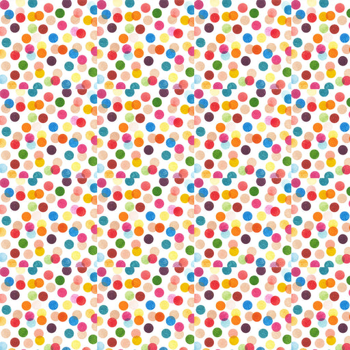 V223 CONFETTI PARTY MULTI CIRCLE DOTS  PRINT