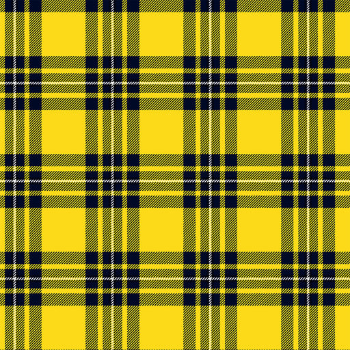 V224 YELLOW PLAID CHECK PRINT