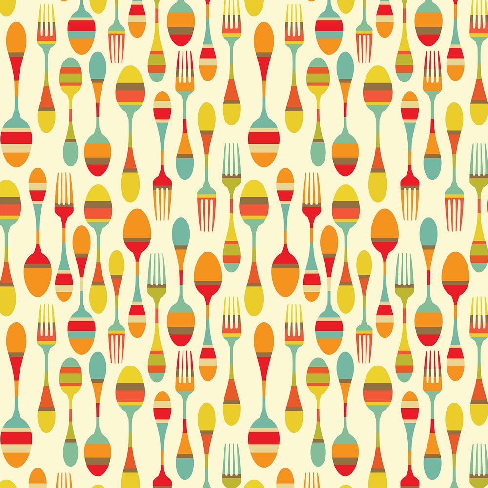 J231 FORK SPOON  FOOD PRINT