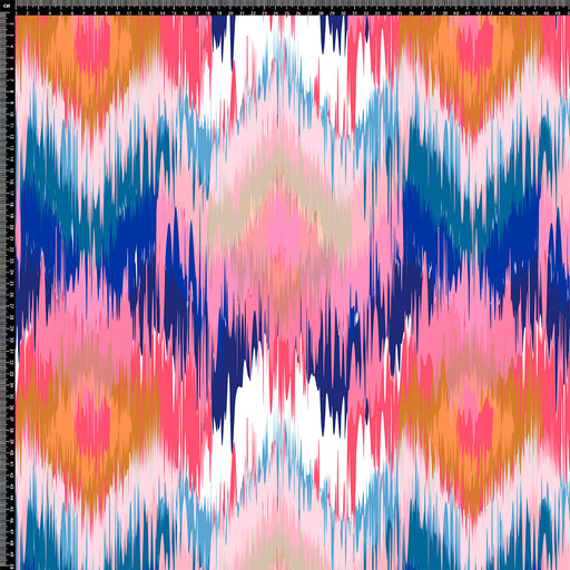 V231 ABSTRACT BLUE AND PINK GEOMETRIC PRINT