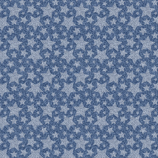 V243 DENIM LOOK STARS PRINT