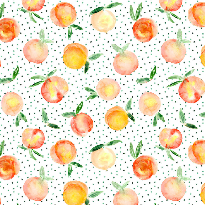 J244 POLKA DOT PEACH FOOD PRINT