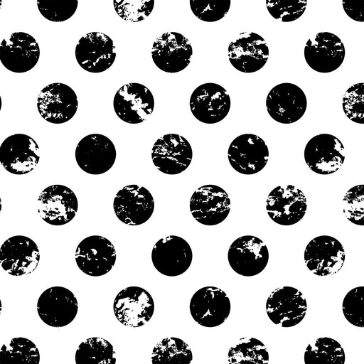 V248 BALCK AND WHITE CIRCLE POLKA DOTS  PRINT