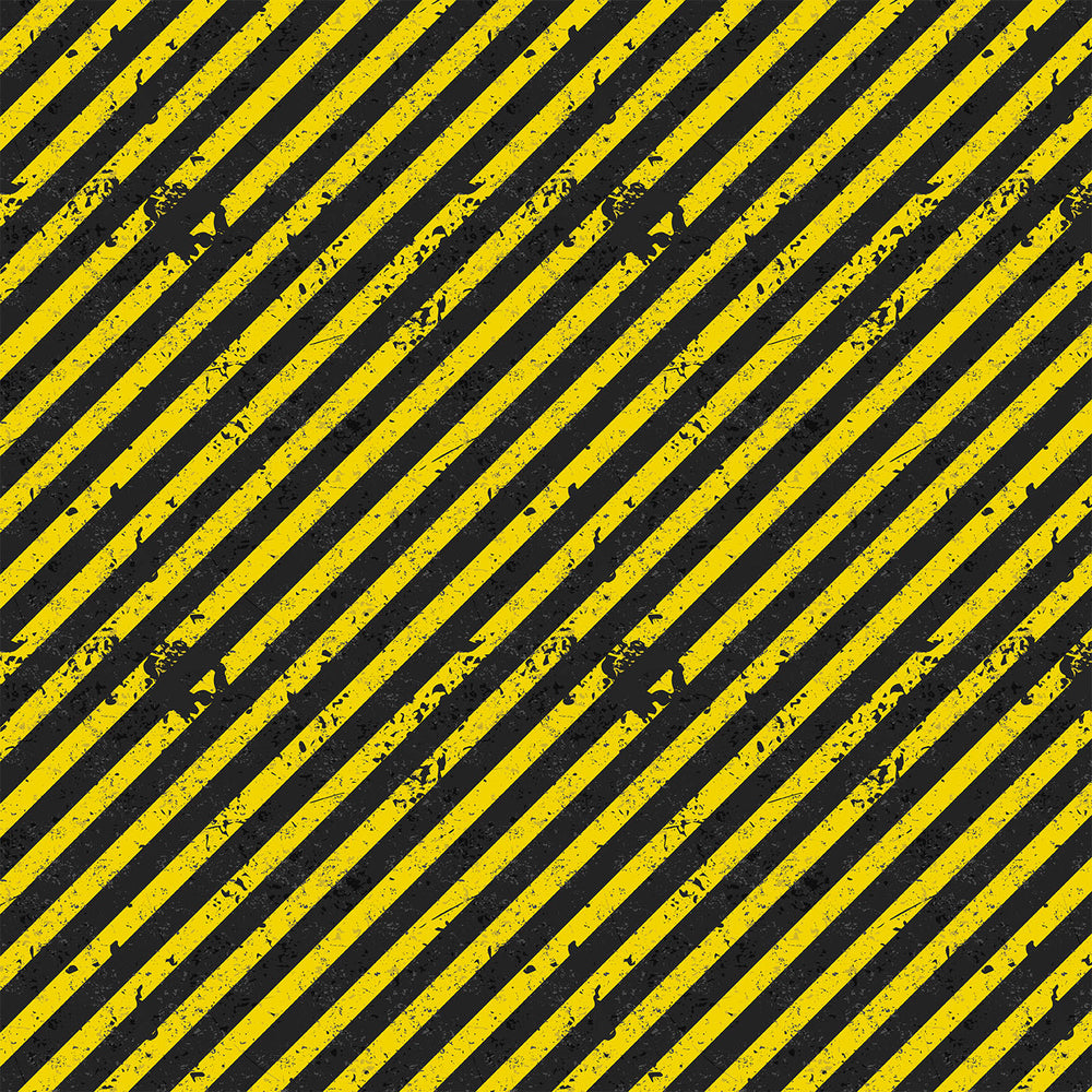 V249 GRUNGE YELLOW AND BLACK STRIPES PRINT