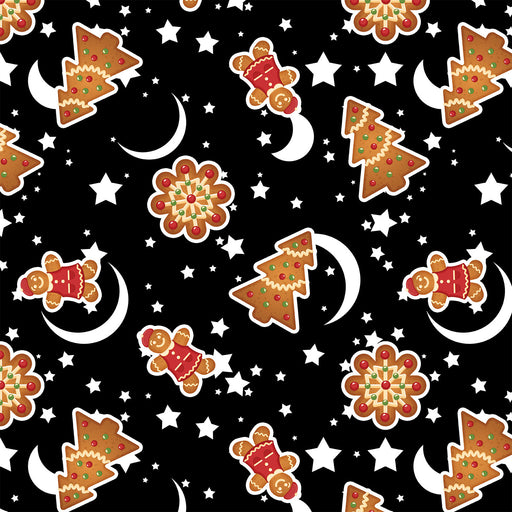 J257 CHRISTMAS MOON STAR PRINT