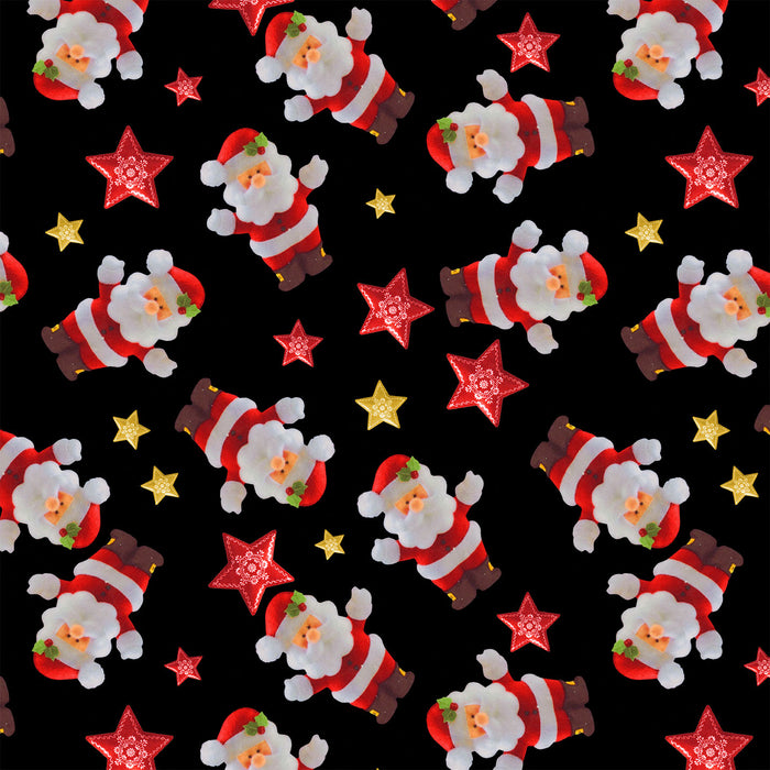 J258 CHRISTMAS SANTA MIXED STAR PRINT
