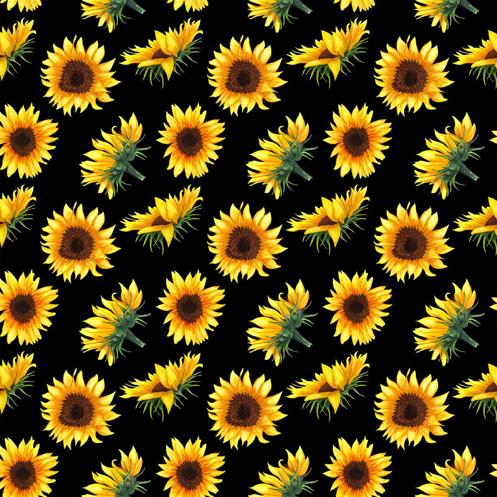 J271 SUNFLOWER FLORAL PRINT