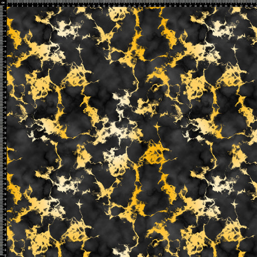 J302 BLACK AND YELLOW MARBLE TEXTURE PRINT