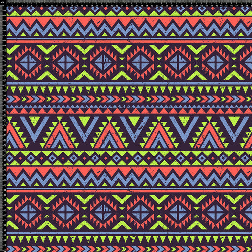 S304 RED AND GREEN AZTEC PRINT
