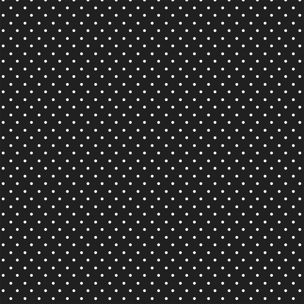 J320 BLACK SMALL POLKA DOTS PRINT