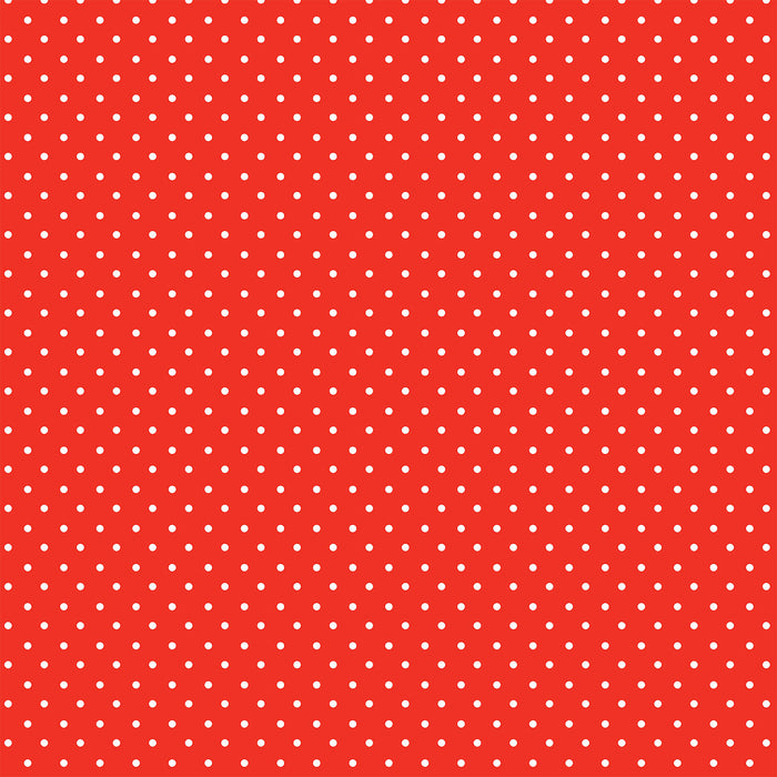 J323 RED SMALL POLKA DOTS PRINT