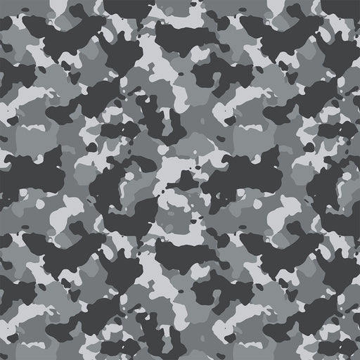 J331 GREY AND BLACK CAMOUFLAGE PRINT