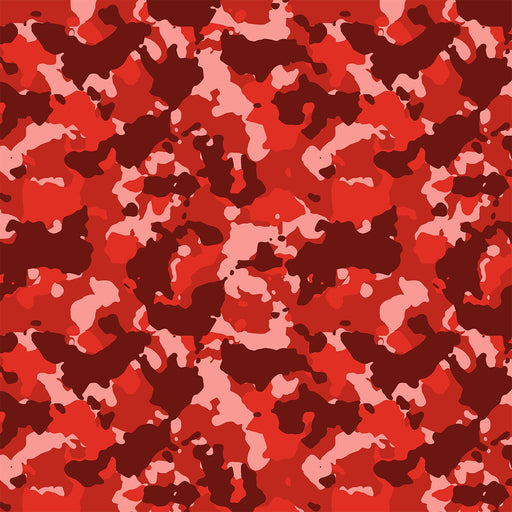 J334 RED CAMOUFLAGE PRINT