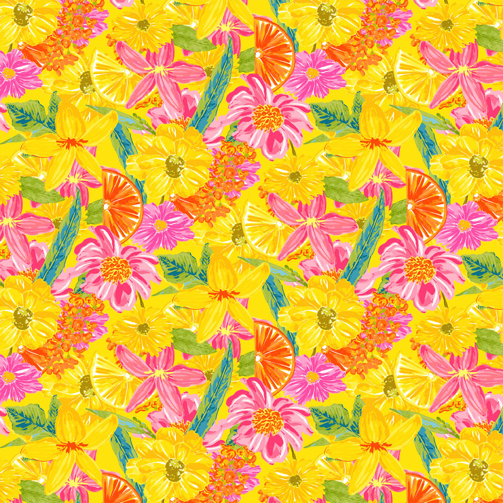 J370 HAND DRAWN BRIGHT FLORAL PRINT