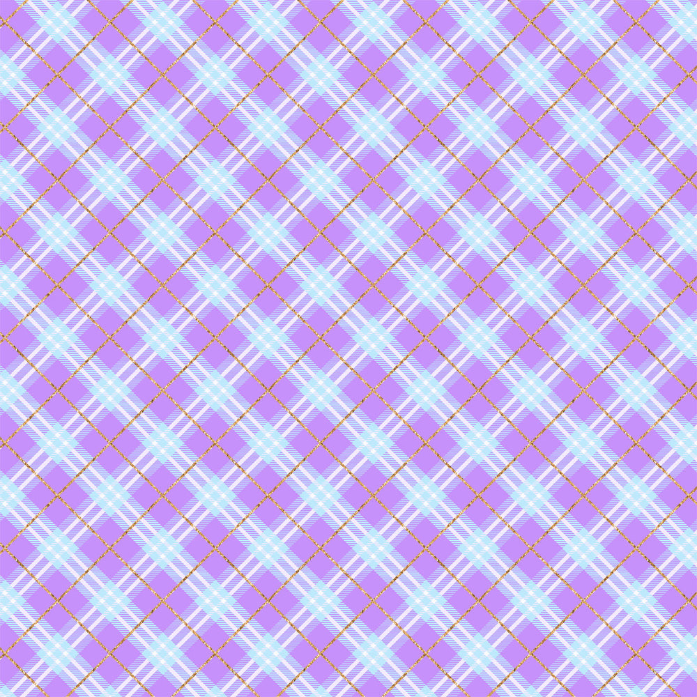 J371 BLUE PURPLE PLAID PRINT