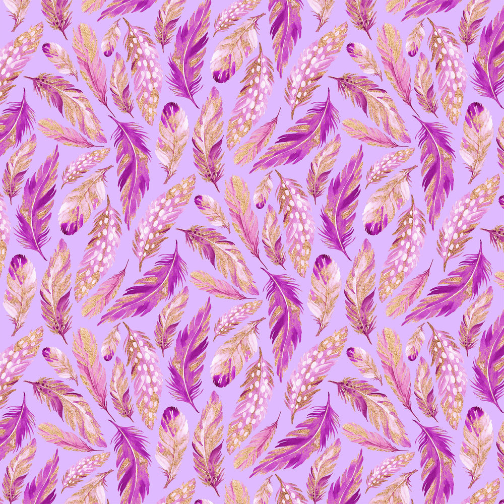 J374 PURPLE FEATHER PRINT