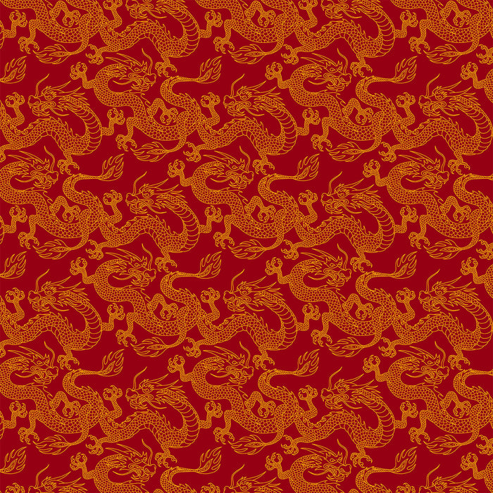 S513 Chinese dragons print