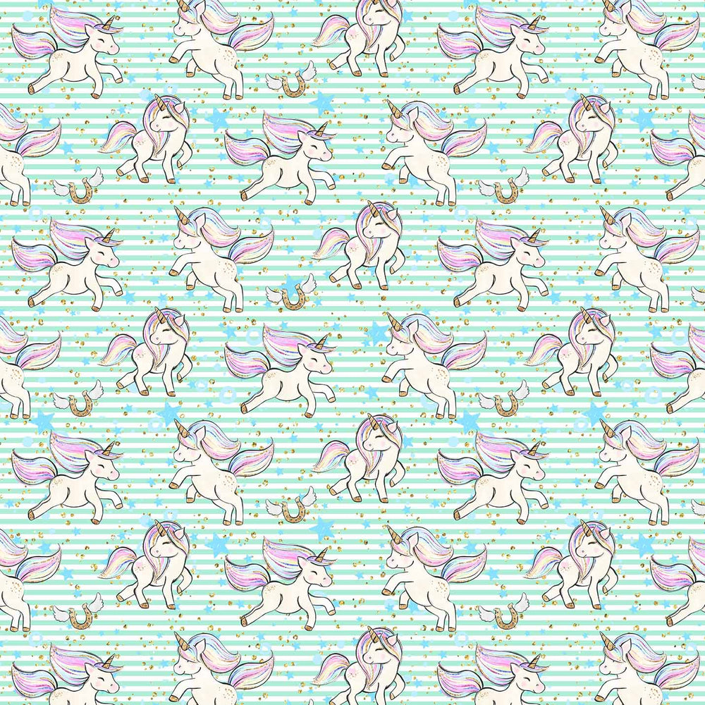 J541 STRIPE UNICORN PRINT