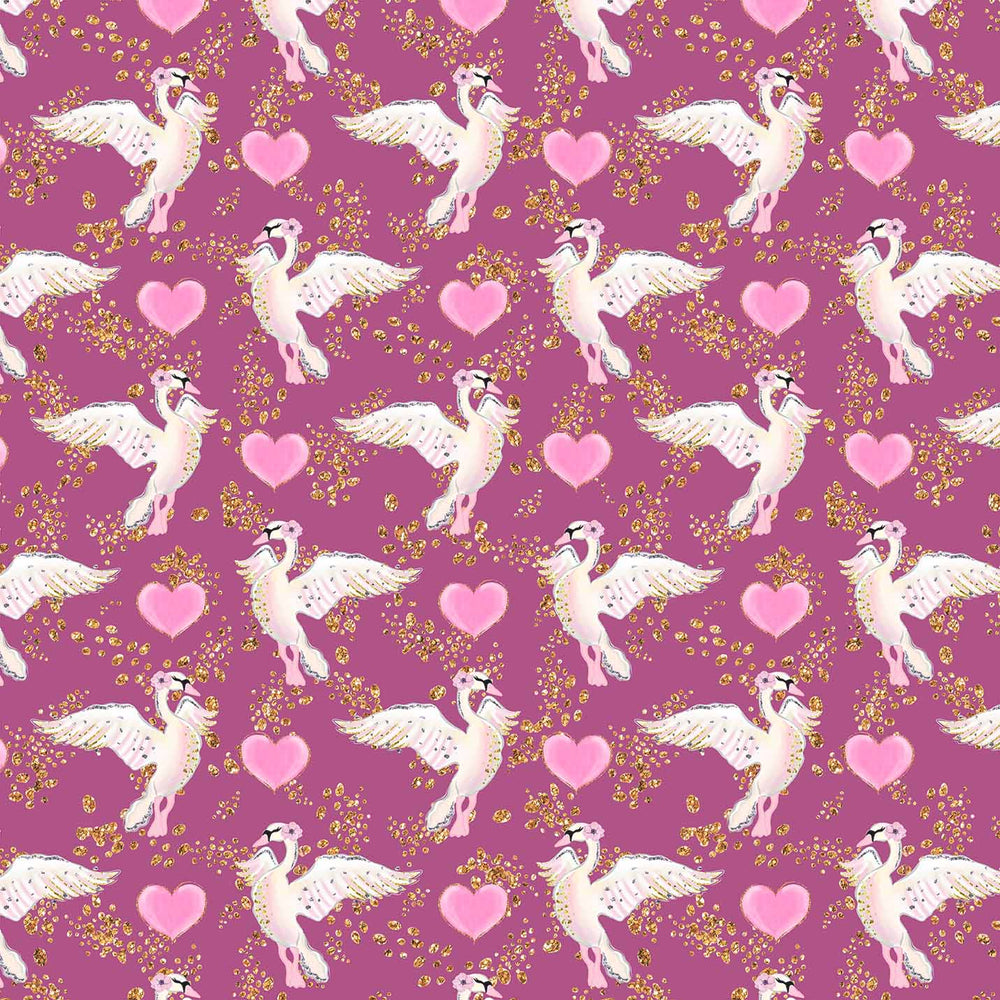 J554 LOVE HEARTS DOVE PRINT