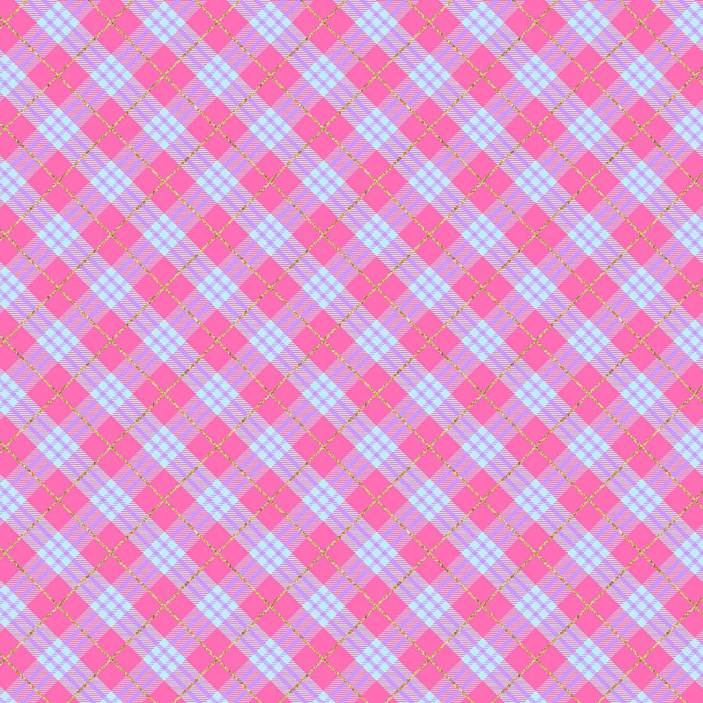 J621 PINK AND BLUE PLAID PRINT
